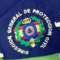Militaria: MASCARILLA BORDADA DE PROTECCION CIVIL. Lote 205842177