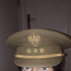Militaria: GORRA DE PLATO ORIGINAL CAPITAN 3 ESTRELLAS 6 PUNTAS. Lote 206927520