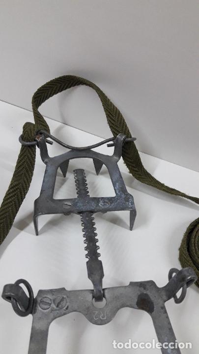 Militaria: CRAMPONES MILITARES - TROPAS DE MONTAÑA . MARCA SALEWA DBP - MADE IN WEST GERMANY - Foto 4 - 206929437