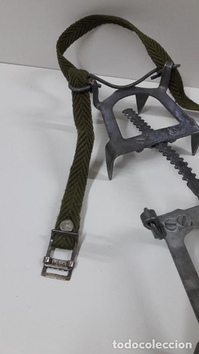 Militaria: CRAMPONES MILITARES - TROPAS DE MONTAÑA . MARCA SALEWA DBP - MADE IN WEST GERMANY - Foto 6 - 206929437