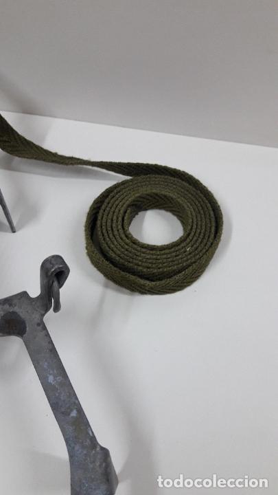 Militaria: CRAMPONES MILITARES - TROPAS DE MONTAÑA . MARCA SALEWA DBP - MADE IN WEST GERMANY - Foto 7 - 206929437