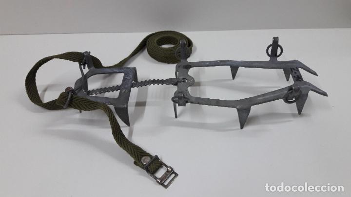Militaria: CRAMPONES MILITARES - TROPAS DE MONTAÑA . MARCA SALEWA DBP - MADE IN WEST GERMANY - Foto 8 - 206929437