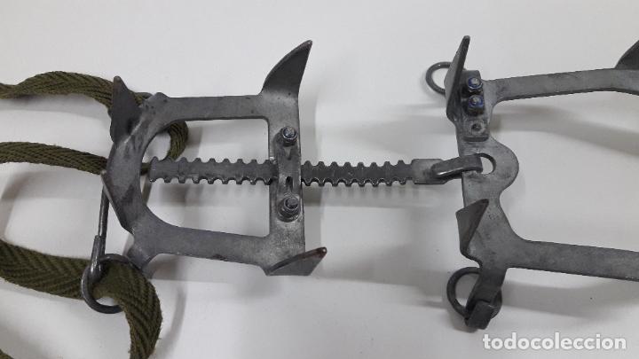 Militaria: CRAMPONES MILITARES - TROPAS DE MONTAÑA . MARCA SALEWA DBP - MADE IN WEST GERMANY - Foto 11 - 206929437