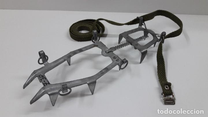 Militaria: CRAMPONES MILITARES - TROPAS DE MONTAÑA . MARCA SALEWA DBP - MADE IN WEST GERMANY - Foto 12 - 206929437