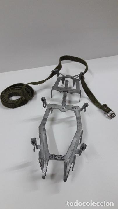 Militaria: CRAMPONES MILITARES - TROPAS DE MONTAÑA . MARCA SALEWA DBP - MADE IN WEST GERMANY - Foto 13 - 206929437