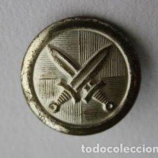 Militaria: 205, RARO BOTÓN DE METAL BLANCO REV. LATON ESPADAS ENTRELAZADAS. Lote 207324801