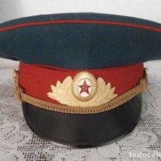 Militaria: ANTIGUA GORRA DE USO MILITAR SOVIÉTICA DE OFICIAL DEL EJERCITO RUSA UNIÓN SOVIÉTICA URSS RUSIA. Lote 207415170