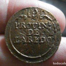 Militaria: PROVINCIAL DE LAREDO CANTABRIA 19 BOTON MILITAR - RAR0 - . 22 MM -.SIGLO XIX. Lote 208202496