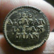 Militaria: PROVINCIAL DE ALCAZAR DE SAN JUAN CIUDAD REAL BOTON MILITAR - RARISIMO -EXCELEN . 15 MM -.SIGLO XIX. Lote 208202556
