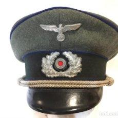 Militaria: ALEMANIA III REICH, SCHIRMMÜTZE DE OFICIAL MÉDICO, ORIGINAL. Lote 208875378