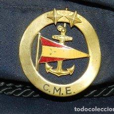 Militaria: ANTIGUA Y RARISIMA GORRA C.M..E. DE MARINA MERCANTE, ARMADA, OFICIAL MAQUINISTA, MAQUINAS, INSIGNIA. Lote 209105743