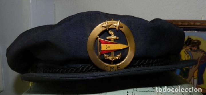 Militaria: ANTIGUA Y RARISIMA GORRA C.M..E. DE MARINA MERCANTE, ARMADA, OFICIAL MAQUINISTA, MAQUINAS, INSIGNIA - Foto 2 - 209105743