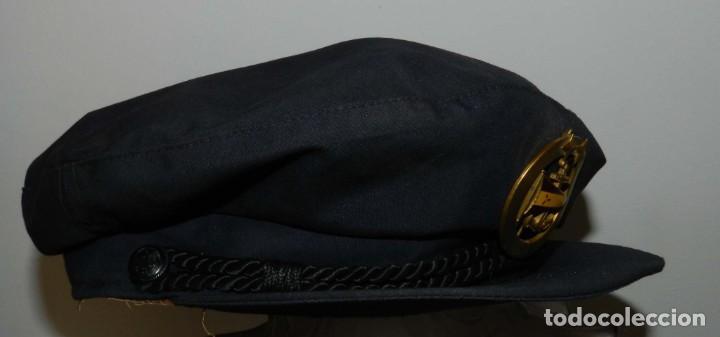 Militaria: ANTIGUA Y RARISIMA GORRA C.M..E. DE MARINA MERCANTE, ARMADA, OFICIAL MAQUINISTA, MAQUINAS, INSIGNIA - Foto 4 - 209105743