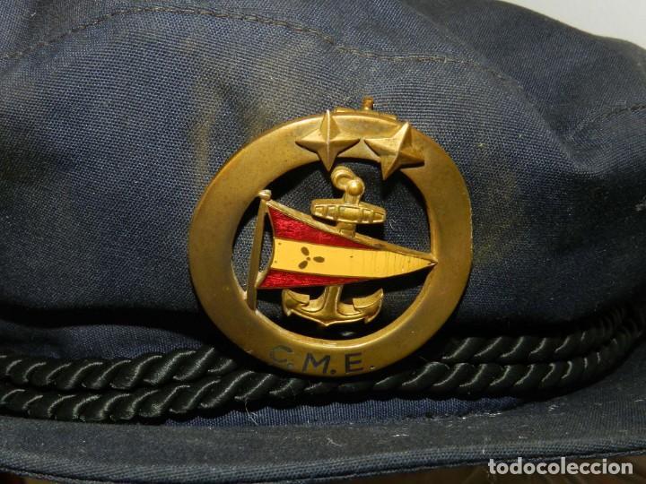 Militaria: ANTIGUA Y RARISIMA GORRA C.M..E. DE MARINA MERCANTE, ARMADA, OFICIAL MAQUINISTA, MAQUINAS, INSIGNIA - Foto 7 - 209105743