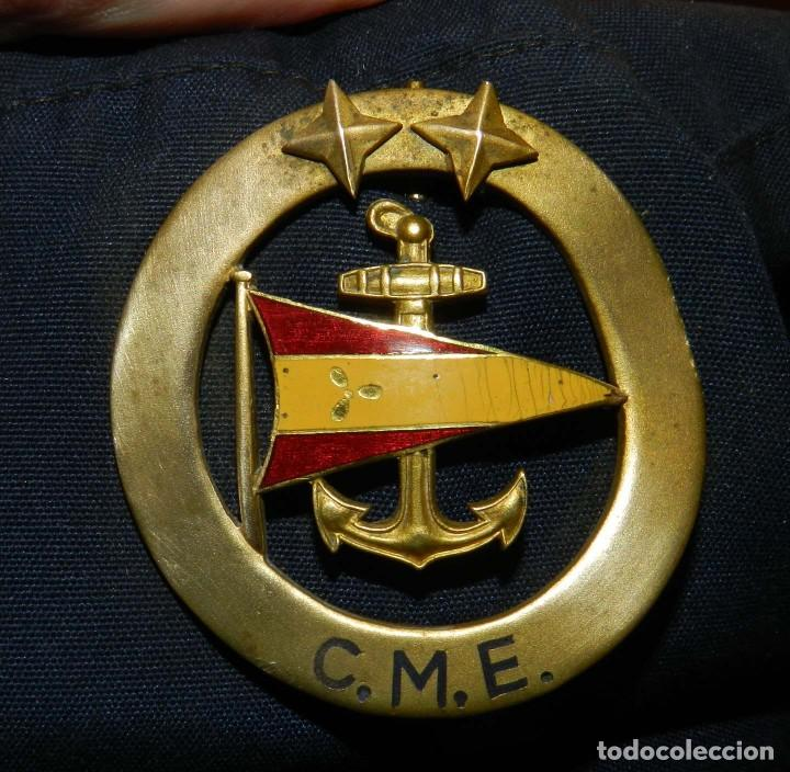 Militaria: ANTIGUA Y RARISIMA GORRA C.M..E. DE MARINA MERCANTE, ARMADA, OFICIAL MAQUINISTA, MAQUINAS, INSIGNIA - Foto 15 - 209105743
