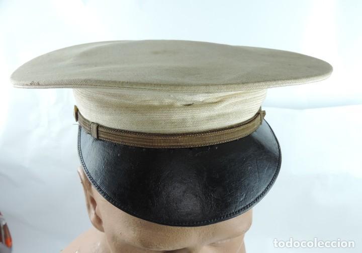 ANTIGUA GORRA DE PLATO DE DE PHILIPPINE ISLANDS, FILIPINAS, POLICIA? EJERCITO?, FABRICADA POR MANILA (Militar - Boinas y Gorras )
