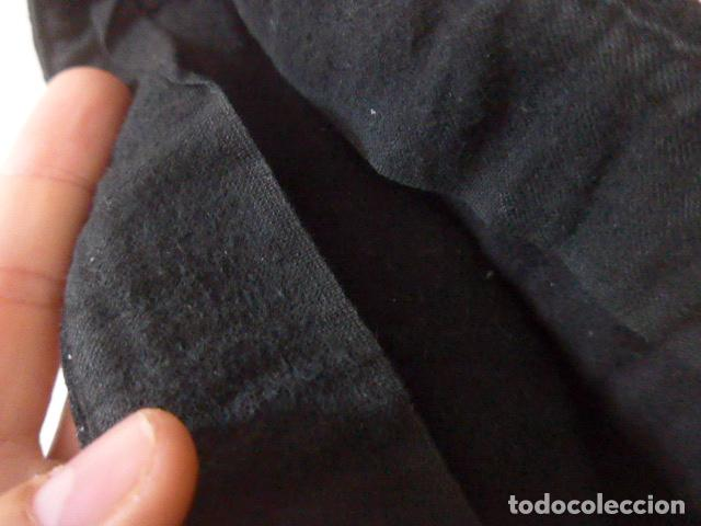 Militaria: * Antiguo gorrillo de invierno de falange, negro, original de guerra civil. ZX - Foto 10 - 209720116