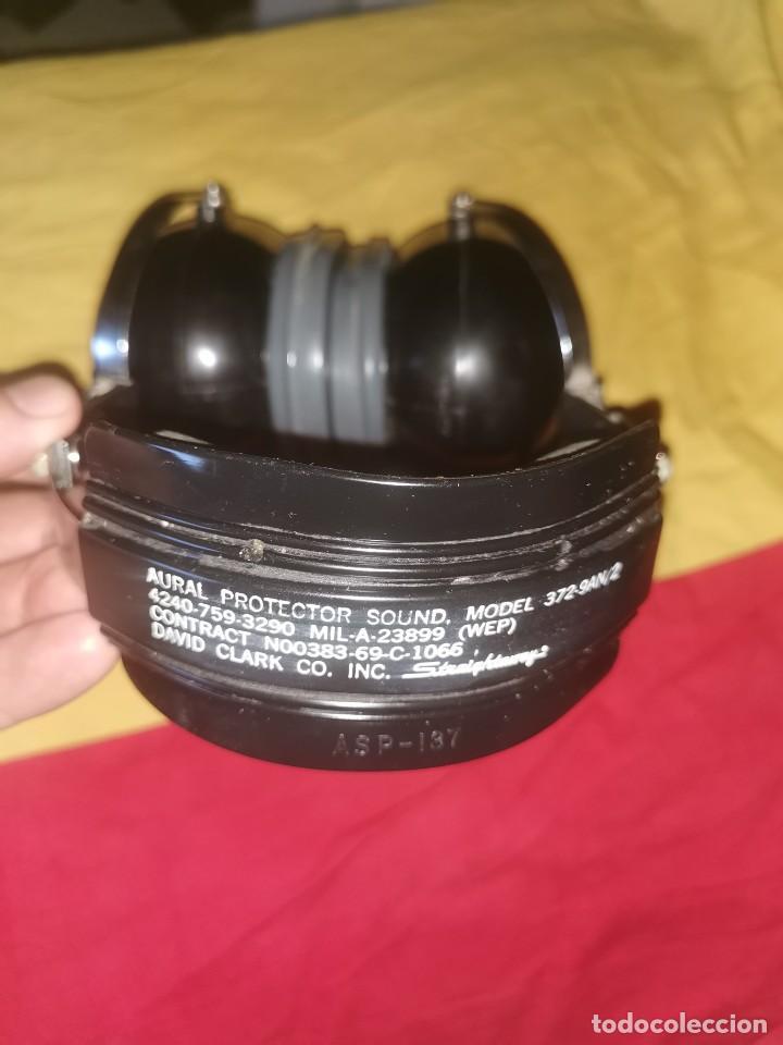Militaria: Cascos protector sonido. Aviación. Profesionales. David Clark. Model 372-9AN/2 - Foto 7 - 209817775