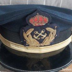 Militaria: GORRA DE PLATO CON ESCUDO MNA DEPORTIVA BORDADO A MANO EN CANUTILLO DE ORO Y SEDAS. TALLA 55. Lote 210036487