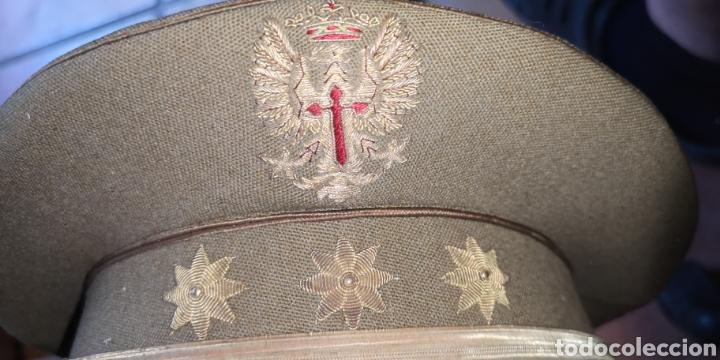 Militaria: Antigua gorra de plato del Ejército de Tierra de la época de Franco graduación de Coronel - Foto 2 - 211871805