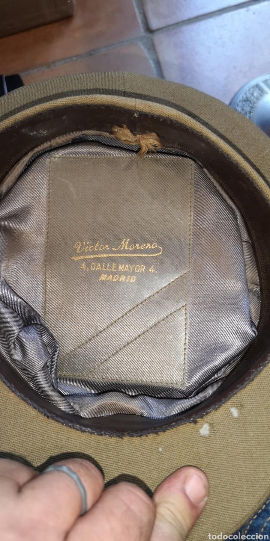 Militaria: Antigua gorra de plato del Ejército de Tierra de la época de Franco graduación de Coronel - Foto 3 - 211871805