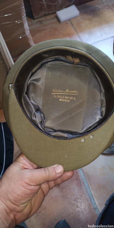 Militaria: Antigua gorra de plato del Ejército de Tierra de la época de Franco graduación de Coronel - Foto 4 - 211871805
