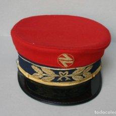 Militaria: GORRA DE PLATO RENFE - JEFE DE ESTACION - FERROCARRILES. Lote 211877270