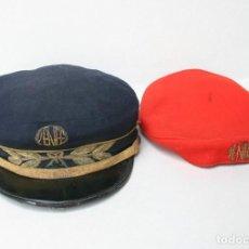 Militaria: RENFE GORRA DE PLATO - JEFE DE ESTACION - FERROCARRILES. Lote 211877772