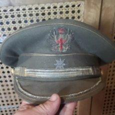 Militaria: ANTIGUA GORRA DE PLATO DEL EJÉRCITO DE TIERRA ESPAÑOL COMANDANTE DE TALLA 57. Lote 212143271