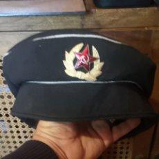 Militaria: GORRO DE LA ARMADA O DE LA MARINA DE GUERRA DE LA UNIÓN SOVIÉTICA TALLA 58. Lote 212146818