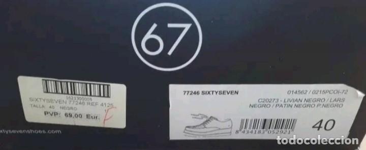 Militaria: Zapatos tipo Derby u Oxford talla 40 con caja original marca Sixtyseven - Foto 5 - 213478361