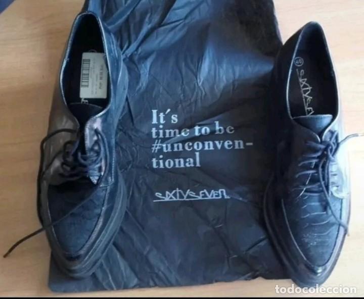 Militaria: Zapatos tipo Derby u Oxford talla 40 con caja original marca Sixtyseven - Foto 9 - 213478361