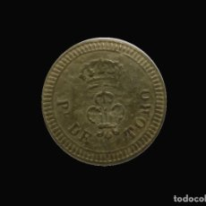 Militaria: BOTON GUERRA CARLISTA - PROVINCIAL DE TORO - 22MM. Lote 216435212