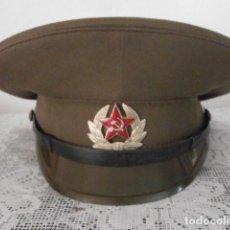 Militaria: ANTIGUA GORRA DE PLATO USO MILITAR DE LA UNIÓN SOVIÉTICA DE SUB OFICIAL DEL EJERCITO RUSA URSS RUSIA. Lote 216905691