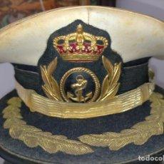 Militaria: GORRA DE PLATO OFICIAL DE LA ARMADA ESPAÑOLA, MARINA DE ESPAÑA. CARTAGENA BORDADA ORO. Lote 217598363