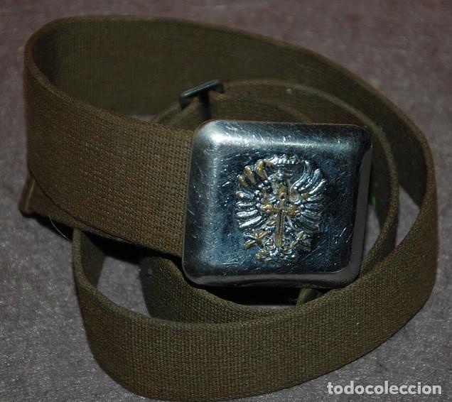 CINTURON MILITAR EJERCITO DE TIERRA AÑOS 60/70-05 (Militar - Cinturones y Hebillas )