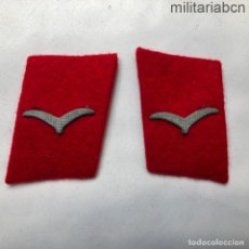 Militaria: ALEMANIA III REICH. INSIGNIAS DE CUELLO DE TROPA DE ANTIAÉREOS DE LA LUFTWAFFE.. Lote 218019676