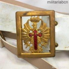 Militaria: ESPAÑA. CINTURÓN Y HEBILLA DE GALA DE OFICIAL DEL EJÉRCITO DE TIERRA. ÉPOCA DE FRANCO.. Lote 218563486