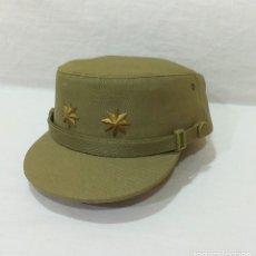Militaria: ANTIGUA GORRA FAENA CAMPAÑA MARCA M. VALLE TENIENTE CORONEL EJÉRCITO ESPAÑOL AÑOS 70 PERFECTO ESTADO. Lote 218945086