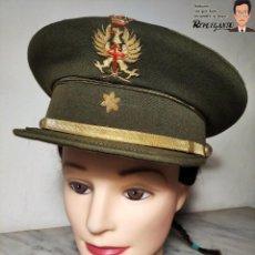 Militaria: GORRA DE PLATO ALFÉREZ - EJÉRCITO DE TIERRA ESPAÑOL - ÉPOCA FRANQUISTA - LA FAMA ZARAGOZA. Lote 220745486