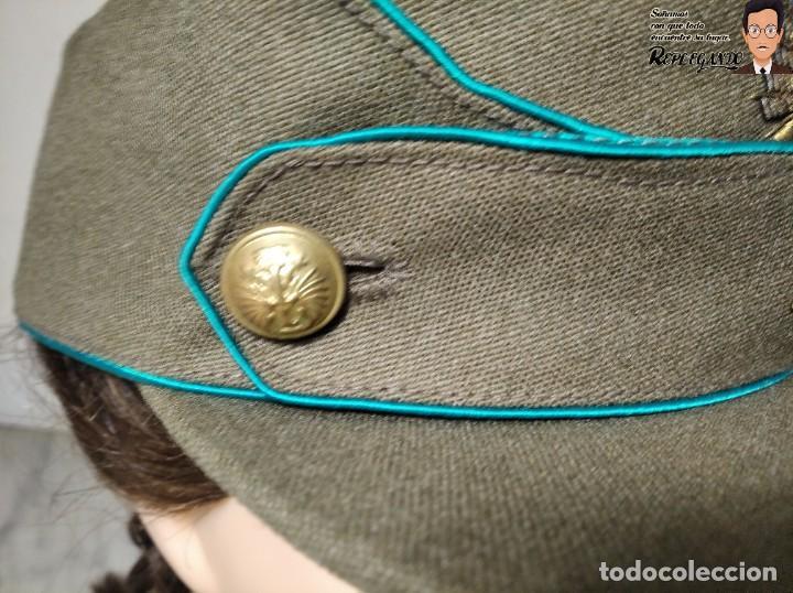 Militaria: GORRA DE PASEO DE ALFÉREZ (CAZADORES MONTAÑA) TALLA 57 - ÉPOCA FRANQUISTA - FANTÁSTICO ESTADO - Foto 4 - 220837481