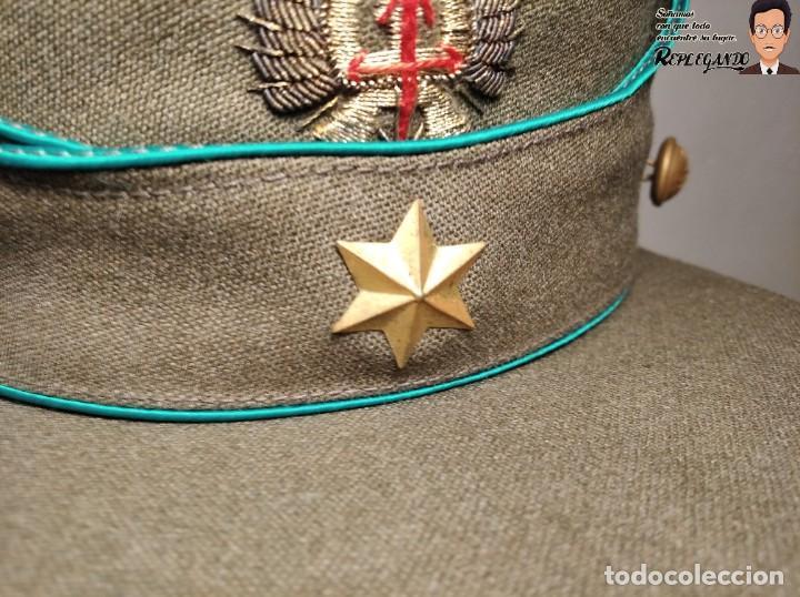 Militaria: GORRA DE PASEO DE ALFÉREZ (CAZADORES MONTAÑA) TALLA 57 - ÉPOCA FRANQUISTA - FANTÁSTICO ESTADO - Foto 5 - 220837481