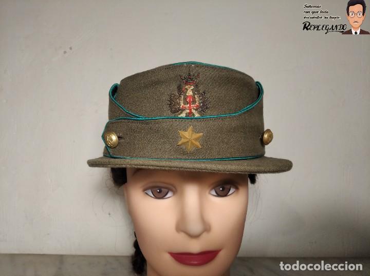 Militaria: GORRA DE PASEO DE ALFÉREZ (CAZADORES MONTAÑA) TALLA 57 - ÉPOCA FRANQUISTA - FANTÁSTICO ESTADO - Foto 12 - 220837481