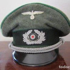 Militaria: GORRA DE PLATO MILITAR DEL EJERCITO ALEMÁN WEHRMACHT III REICH II GUERRA MUNDIAL COPIA REPLICA. Lote 221649330