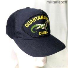Militaria: ESTADOS UNIDOS. GORRA TIPO BEISBOL DE LA BASE DE GUANTANAMO BAY CUBA. FABRICADA EN ESTADOS UNIDOS. Lote 221668400