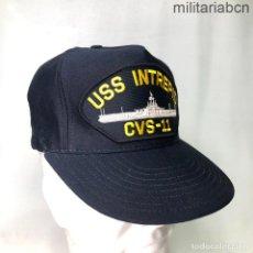 Militaria: ESTADOS UNIDOS. GORRA TIPO BEISBOL DEL PORTAVIONES USS INTREPID CVS-11. FABRICADA EN ESTADOS UNIDOS. Lote 221668496