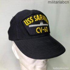 Militaria: ESTADOS UNIDOS. GORRA TIPO BEISBOL DEL PORTAVIONES USS SARATOGA CV 60. FABRICADA EN ESTADOS UNIDOS. Lote 221668560