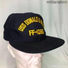 Militaria: ESTADOS UNIDOS. GORRA TIPO BEISBOL DE LA FRAGATA USS DONALD B BEARY FF1085. FABRICADA EN USA. Lote 221669127