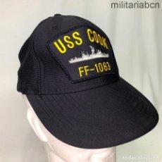 Militaria: ESTADOS UNIDOS. GORRA TIPO BEISBOL DE LA FRAGATA USS COOK FF 1083. FABRICADA EN ESTADOS UNIDOS.. Lote 221669215