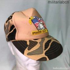 Militaria: ESTADOS UNIDOS. GORRA TIPO BEISBOL DE APOYO A LA OPERACIÓN DESERT STORM 1991.. Lote 221669516